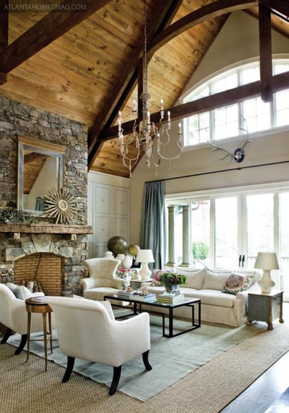 Rustic chic home decor a batty life - Rustic chic living room ...