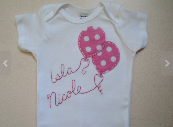 Personalized baby onesie balloons