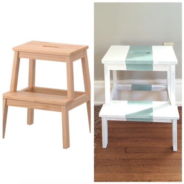 ikea Bekam step stool painted