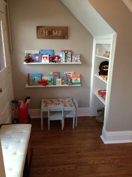 First floor toy storage