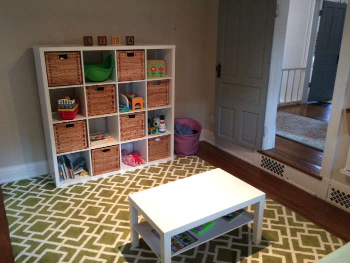 IKEA playroom storage
