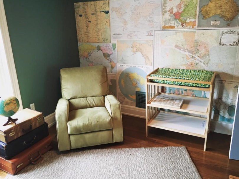 Travel nursery decor